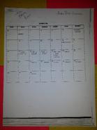 Season 1 Shooting Schedule (Page 1)