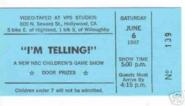 I'm Telling (June 06, 1987)