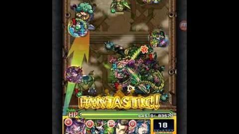 Monster Strike 覇者の塔 18階 墳墓の緑毒龍