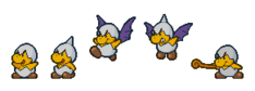 Jr.Troopa, from Paper Mario, shown in his various forms.