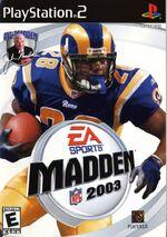 Madden NFL 2003 box art