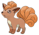 The fire elemental Pokémon, Vulpix