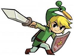 The Hero of the Minish with Ezlo.
