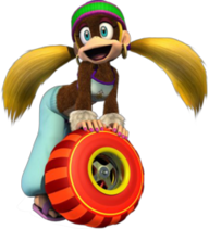Tiny Kong as she appears in later games.