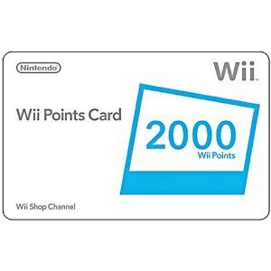 A 2000 Point card for the Wii Shop Channel.