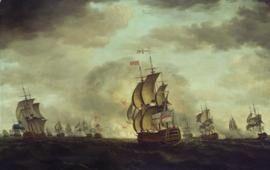 Engaging the Spanish, 1744