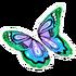 Pastel Blue Butterfly Glider