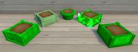 Green Furniture Brush Examples