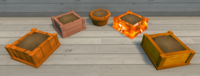 Orange Furniture Brush Examples