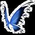 Blue Black Fairy Wings