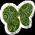 Green Swirl Wings