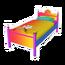 Rainbow Paw Single Bed