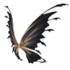 Black and Gold Fairy Wings