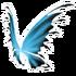 Black Blue Fairy Wings