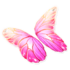 Pastel Pink Butterfly Glider