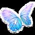 Link=Blue Pink Butterfly Wings