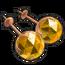 Gold Citrine Earrings