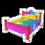 Rainbow Paw Bed