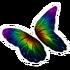 Dark Rainbow Butterfly Glider