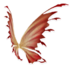 Gold and Red Fairy Wings