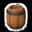 Open Wooden Barrel