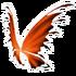Black Orange Fairy Wings