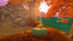 Hedgehog on Plush Dog Bed.png