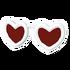 White Heart-Shaped Glasses