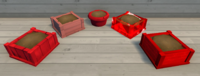 Red Furniture Brush Examples