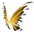 Black Yellow Fairy Wings