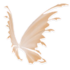 Pastel Orange Fairy Wings