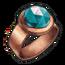 Copper Aquamarine Ring