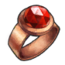 Copper Ruby Ring