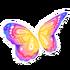 Pastel Rainbow Butterfly Wings