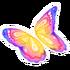 Pastel Rainbow Butterfly Glider