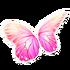 Pastel Pink Butterfly Wings