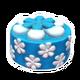 Blueberry Flower Cake