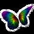 Dark Rainbow Butterfly Wings