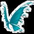 Cyan Fairy Wings