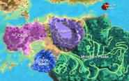 Kozita Mountain Region Zones Map