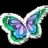 Pastel Blue Butterfly Wings
