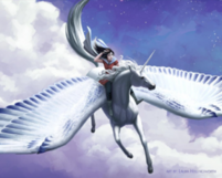 Linh and Greyfell flying