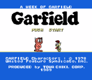 A Week of Garfield title screen