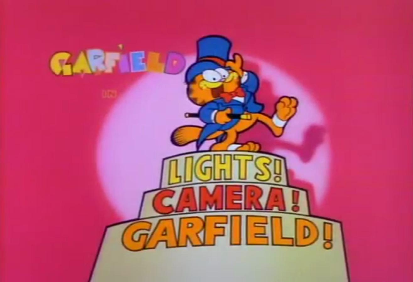 Lights! Camera! Garfield!