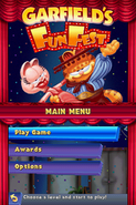 Garfield's Fun Fest main menu
