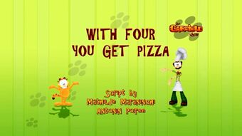 With Four You Get Pizza Garfield Wiki Fandom