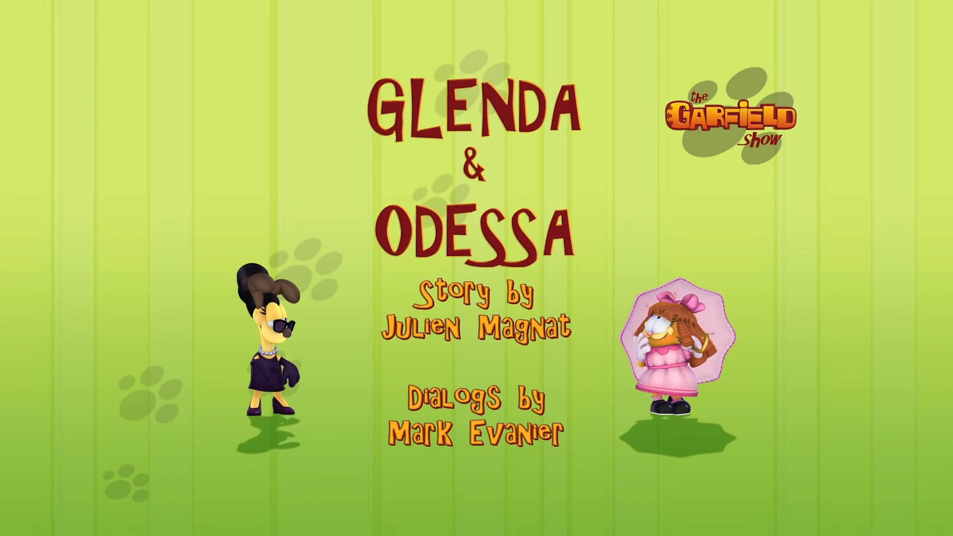 Glenda And Odessa Garfield Wiki Fandom