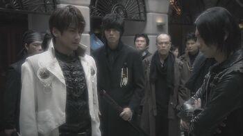 Kouga with Makai Knights