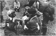 Soviet Nurses Wearing GP-4y And GP-5 Gas Masks