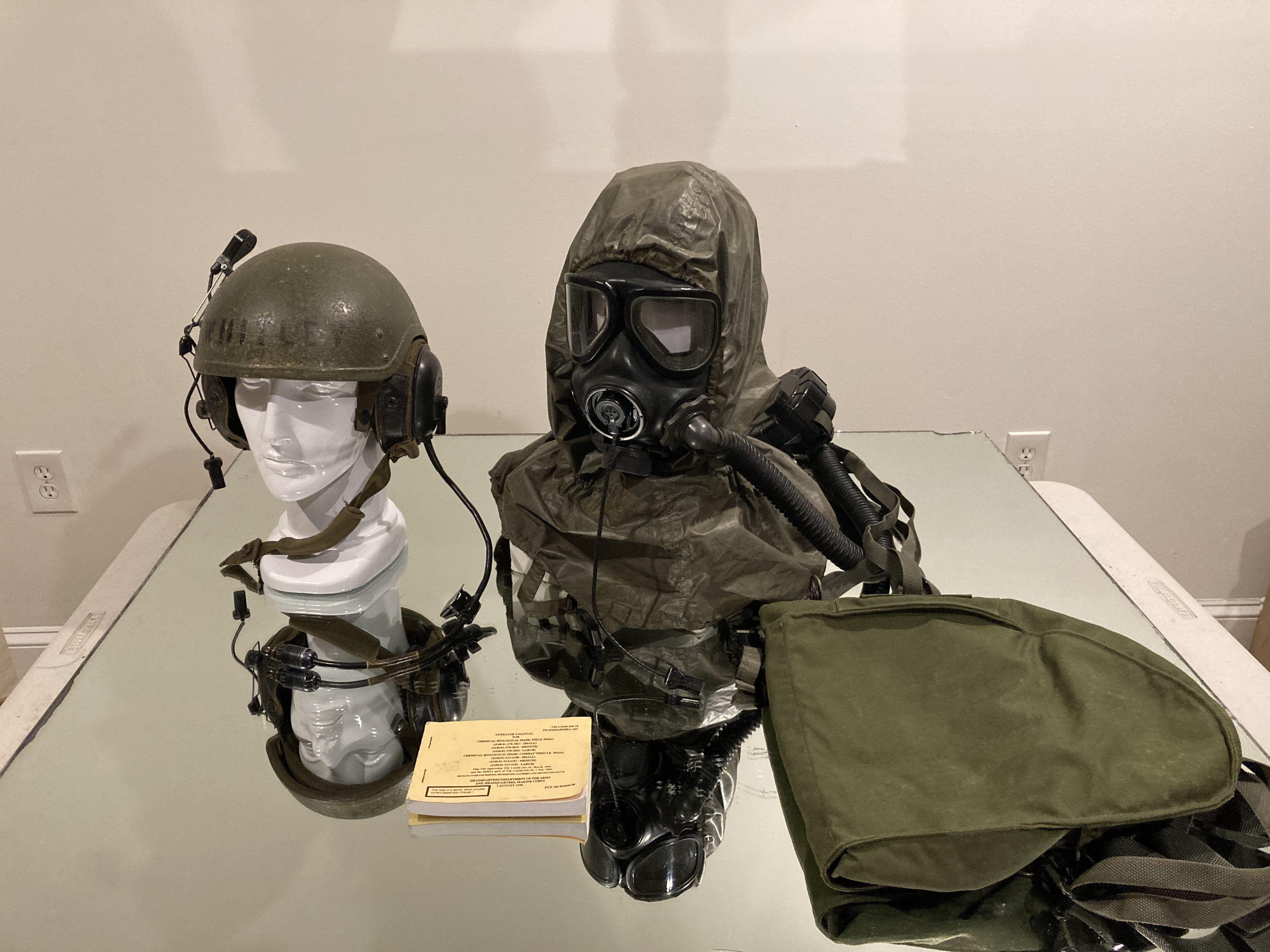 Details about  /M40 M42 NBC Gas Mask Bag New Nylon Heavy Nylon Construction